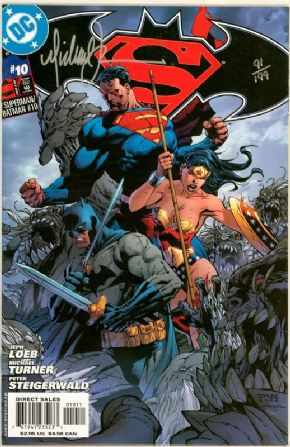 Superman Batman #10 Dynamic Forces Signed Michael Turner DF COA Ltd 199 DC Comics